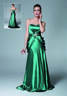 Stunning A-line Hunter Green Formal Evening Dress