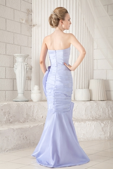 Special Sweetehart Sheath Lavender Prom Dress High Low Hem