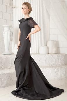 Boat Neckline Short Sleeves Mermaid Prom Gown 2016