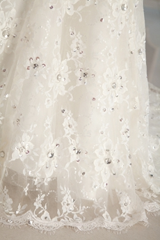 Luxury Mermaid Lace Wedding Dress With Exquisite Beads