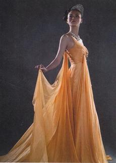 Elegance One Shoulder A-line Orange Chiffon Evening Dress