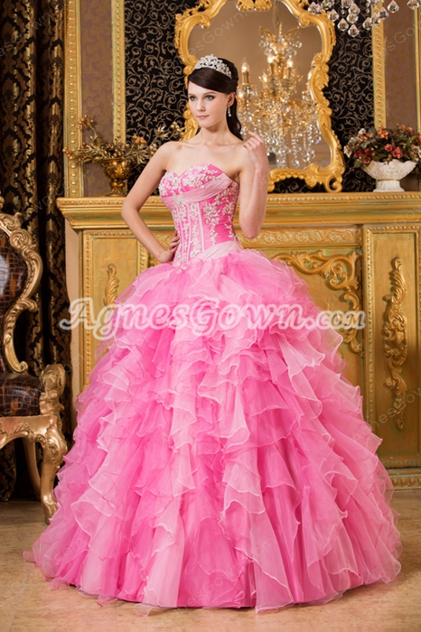 Multi Colored Sweetheart Neckline Colorful Quinceanera Dress