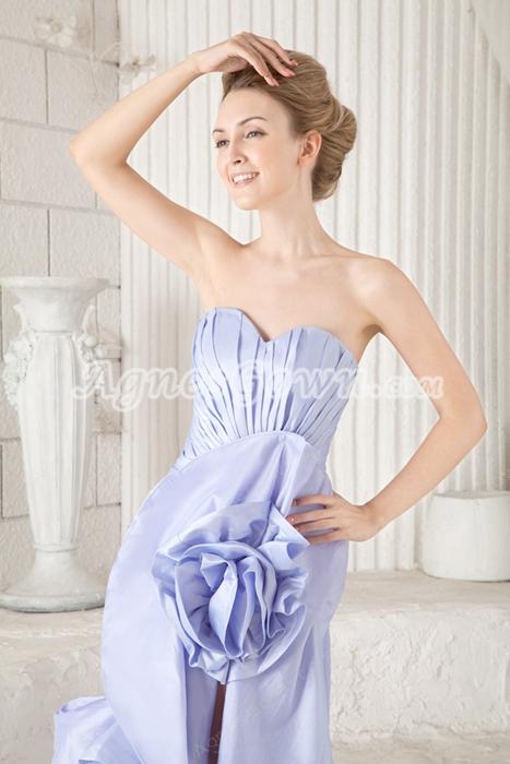 Special Sweetehart Sheath Lavender Prom Dress High Low Hem
