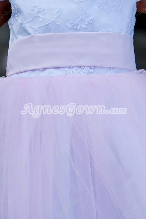 Short Sleeves Mini Length Pink Tutu Infant Girl Pageant Dress
