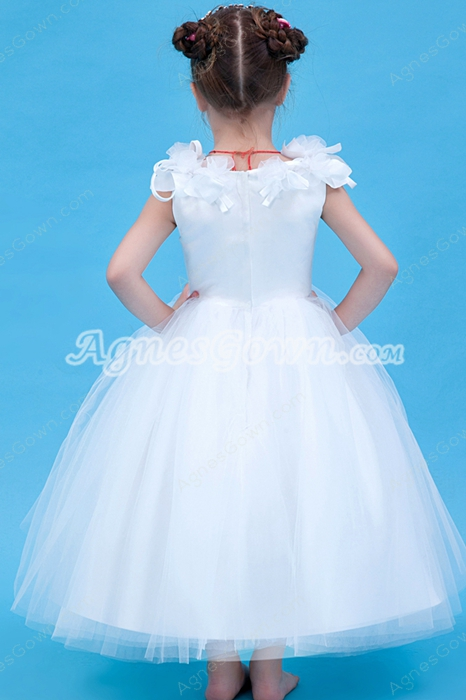 Adorable Tea Length Ball Gown Tulle Infant Flower Girl Dress