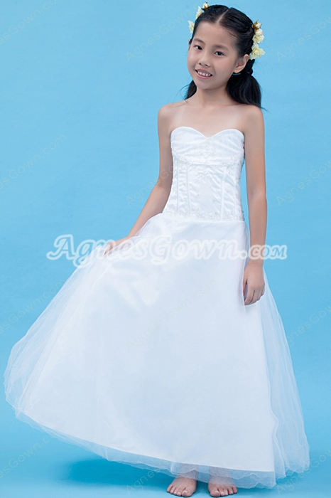 Sweetheart Puffy Ankle Length Mini Bridal Dress