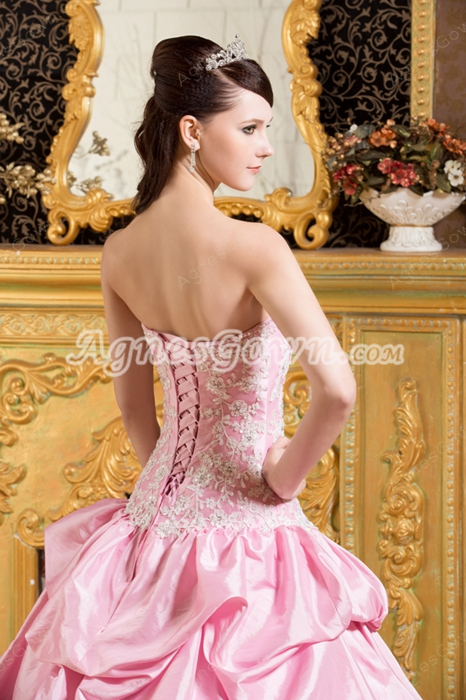 Beautiful Sweetheart Ball Gown Light Pink Quinceanera Dress Dropped Waist