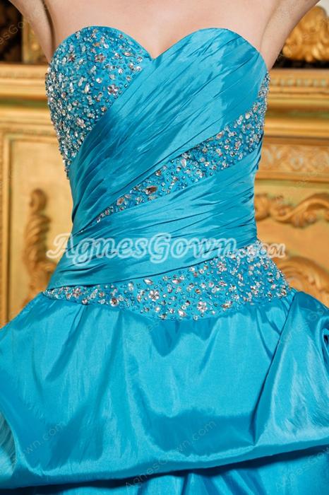 Pretty Sweetheart Blue And White Sweet 15 Dress