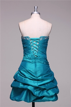 Chic Strapless Sheath Mini Length Blue Sweet XVI Dress With Crystals