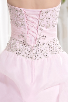 Dreamed Sweetheart Neckline Ball Gown Light Pink Quinceanera Dresses With Embroidery