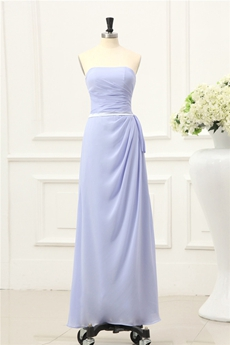 Glamour Lavender Chiffon Long Bridesmaid Dresses