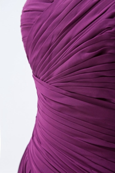 Graceful Sweetheart A-line Chiffon Grape Color Prom Dress