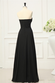 Modest Black Chiffon Bridesmaid Dresses