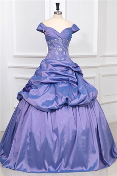 Modest Lavender Off The Shoulder Princess Quinceanera Dresses
