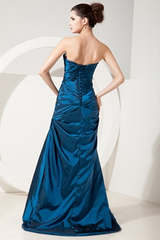 Graceful Sweetheart A-line Turquoise Taffeta Prom Dress Corset Back