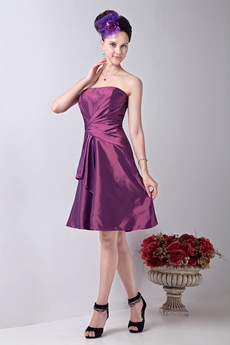 Cheap Short Length Bridesmaid Dress