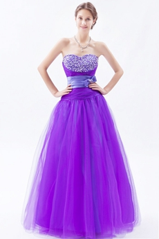 Attractive Sweetheart Purple And Lavender Princess Quinceanera Dress