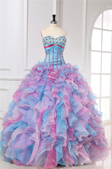 Cool Colorful Multi Colored Quinceanera Dresses