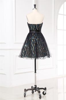 Modern Strapless Little Black Dress