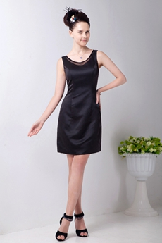 Scoop Neckline Mini Length Black Cocktail Dress