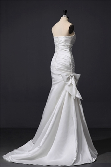 Classy Satin Strapless Wedding Dresses with Shawl