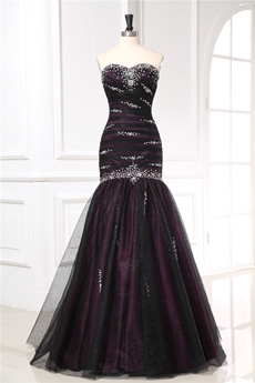 Black and Purple Military Ball Gowns With Diamonds Embellishment