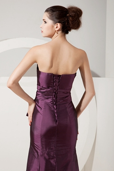 Charming Strapless A-line Grape Colored Mother Of The Bride Drses With Jacket