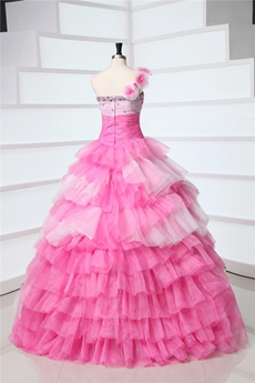 Beautiful One Shoulder Princess Quinceanera Dress