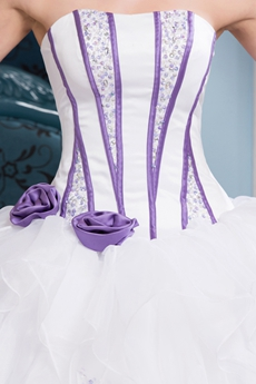 Affordable Dipped Neckline Tutu Full Length Sweet 15 Dresses