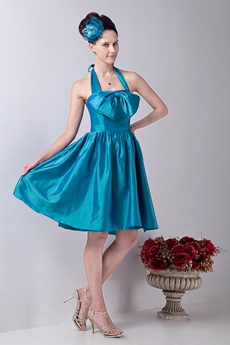Top Hlater A-line Knee Length Turquoise Junior Graduation Dress