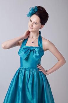 Top Hlater A-line Knee Length Turquoise Junior Graduation Dress