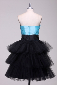 Blue & Black Sweet Sixteen Dress 3 Tiered