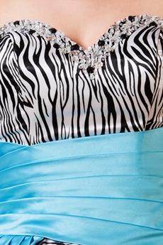 Unique Sweetheart Neckline Ball Gown Floor Length Zebra Quinceanera Dress