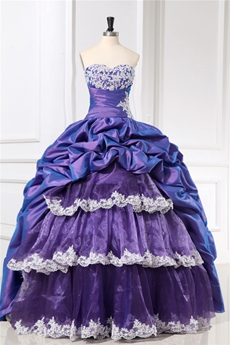Affordable Sweetheart Lavender Puffy Quinceanera Dresses