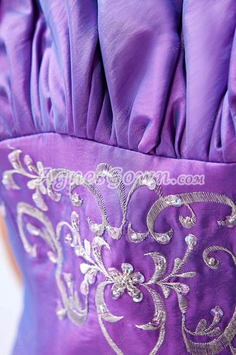 Pretty Strapless Taffeta Lilac Princess Quinceanera Dress