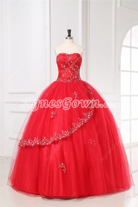 Gorgeous Red Mexican Quinceanera Dresses