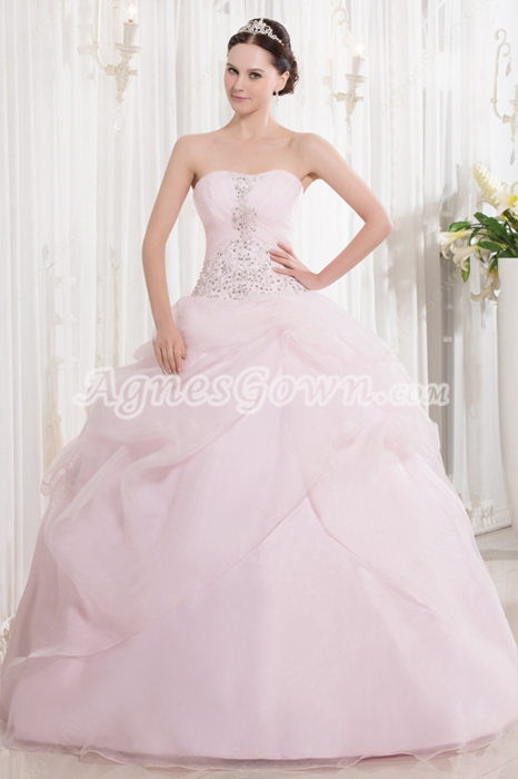 8b51d0e16ad Dreamed Sweetheart Neckline Ball Gown Light Pink Quinceanera Dresses With  Embroidery ...