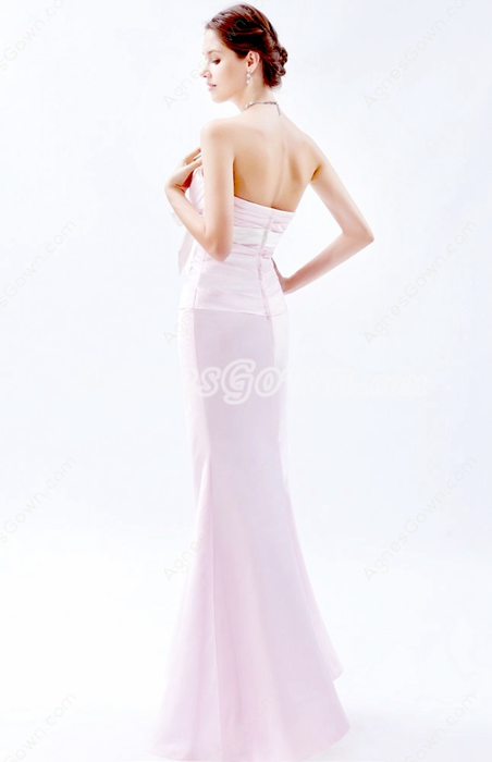 Noble Sweetheart Sheath Floor Length Pearl Pink Mother Of The Bride Dress
