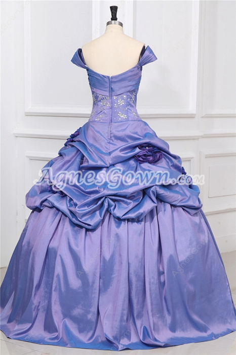 Modest Lavender Off The Shoulder Princess Quinceanera Dresses