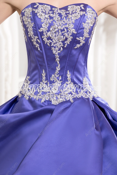 Desirable Shallow Sweetheart Ball Gown Full Length Lavender Quinceanera Dress