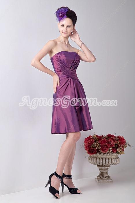 Cheap Short Length Bridesmaid Dress