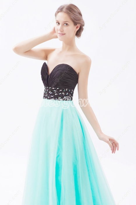Sweetheart Blue & Black Princess Sweet 15 Dress