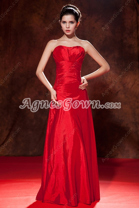 Graceful Sweetheart A-line Floor Length Red Prom Dress