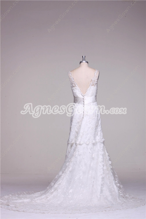 Gracian Lace Wedding Dress V-Back