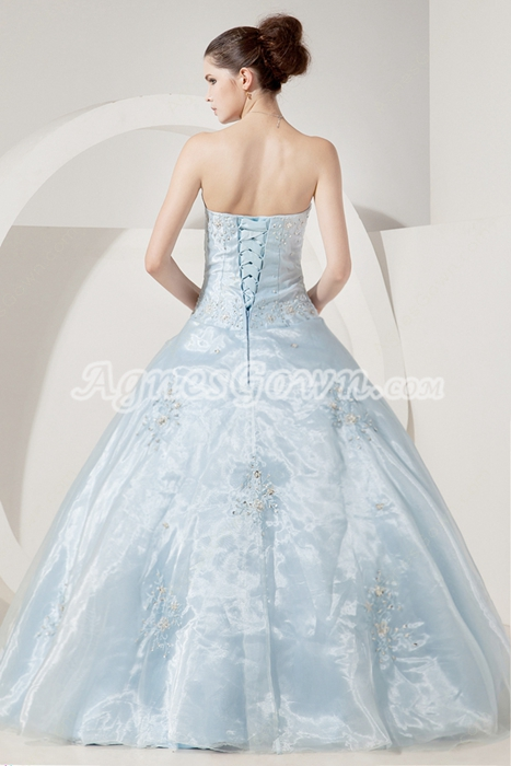 Pretty Sweetheart Ball Gown Baby Blue Quinceanera Dress