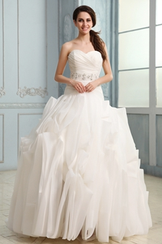 Unique Sweetheart Complicated Wedding Dress Dropped Waist