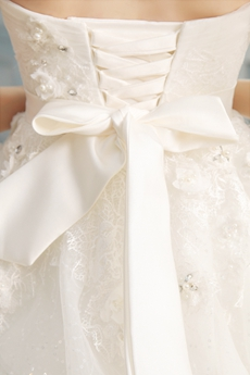 Fairytale Strapless Neckline Ball Gown Floor Length Bridal Gown