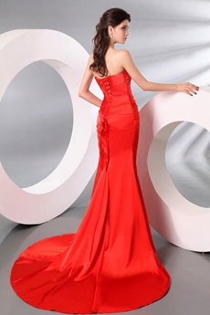 Fashionable Sweetheart Sheath Floor Length Red Pageant Dress