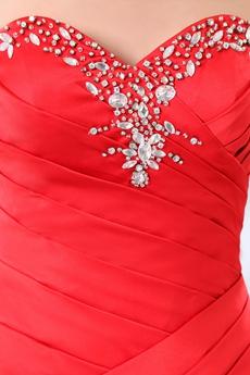 Sexy Sheath Mini Length Red Satin Little Bandage Dress