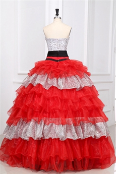 Magnificent Strapless Ball Gown Full Length Multi Colored Quinceanera Dress